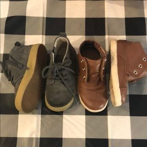 2 pairs of Toddler Boy size 7 shoes